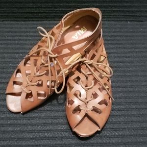 MIA Lace Up Gladiator Style Sandals | Size 8 1/2